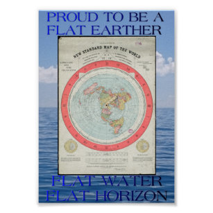 Flat Earth Map Poster