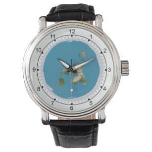 Flat Earth Map Wrist Watch