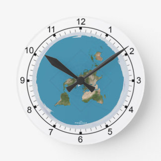 Flat Earth Medium Size Wall Clock