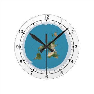 Flat Earth Medium Size Wall Clock