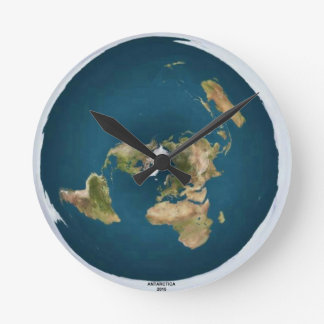 Flat Earth Medium Wall Clock