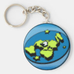 Flat Earth Society keyring Basic Round Button Key Ring