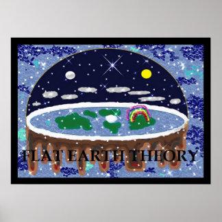 Flat Earth Theory Pop Art Poster