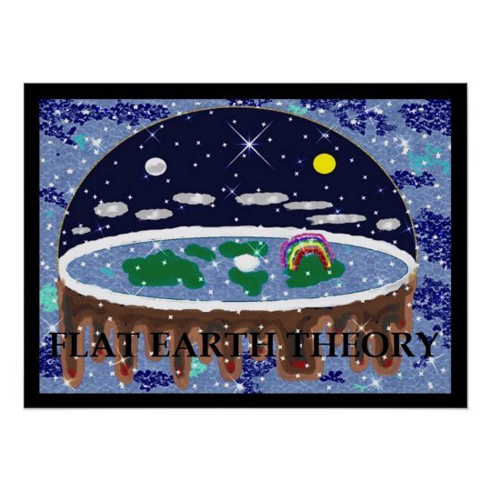 Flat Earth Theory Pop Art Poster