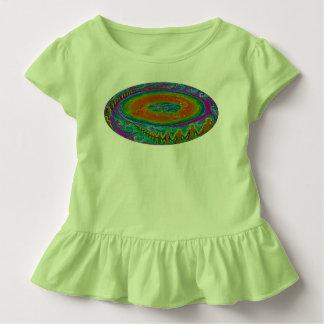 Flat Earth toddler t shirt original painting