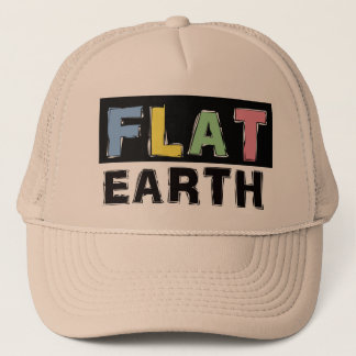Flat Earth Trucker Cap with colour