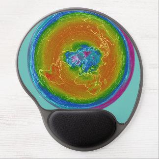 Flat Earth weather map Gel Mousepad