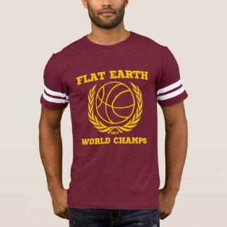 Flat Earth World Champs - CRIMSON GOLD STRIPES T-Shirt