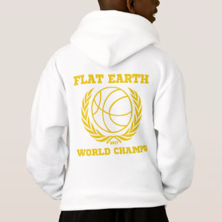Flat Earth World Champs - GOLD WHITE HOODIE