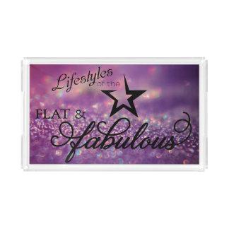 Flat & Fabulous acrylic tray