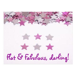 Flat & Fabulous Postcard
