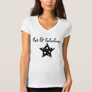 Flat & Fabulous V-neck T-Shirt