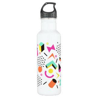 Flat Geometric Squiggly Memphis bold pattern 1980s 710 Ml Water Bottle