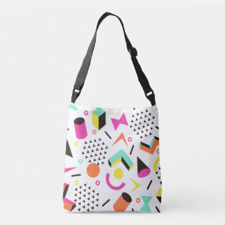 Flat Geometric Squiggly Memphis bold pattern 1980s Tote Bag