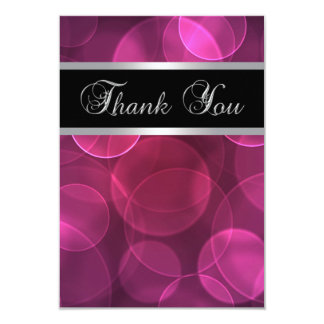 Flat Hot Pink Thank You Cards 9 Cm X 13 Cm Invitation Card