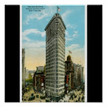 Flat Iron Building. Broadway and Fifth Ave. NYC Poster