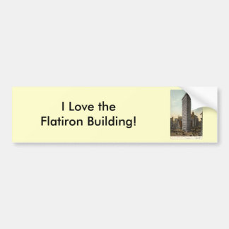 Flat Iron Building, New York City 1918 Vintage Bumper Stickers