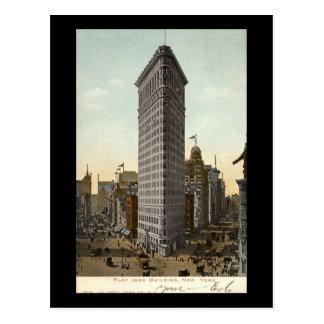 Flat Iron Building, New York City 1918 Vintage Postcard