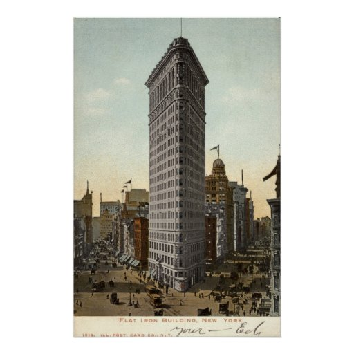 Flat Iron Building, New York City 1918 Vintage Posters