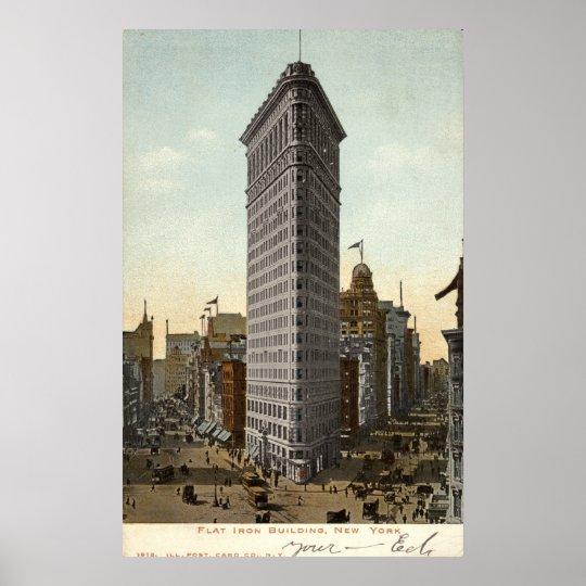 Flat Nyc: Flat Iron Building, New York City 1918 Vintage Poster
