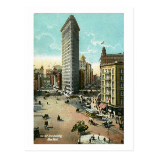 Flat Iron Building, New York City Vintage Postcard