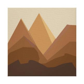 flat landscape mountains brown canvas print