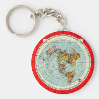 Flat Map Keychain