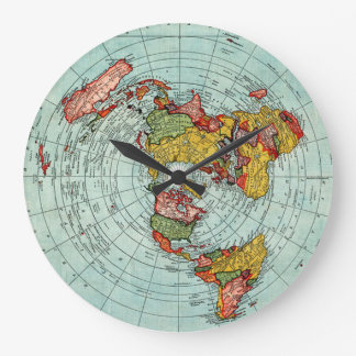 Flat Map Wall Clock