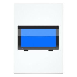 Flat Screen TV 9 Cm X 13 Cm Invitation Card