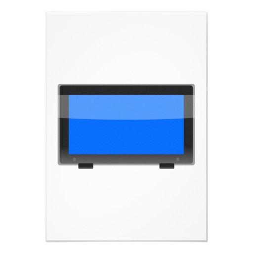 Flat Screen TV Personalized Invite
