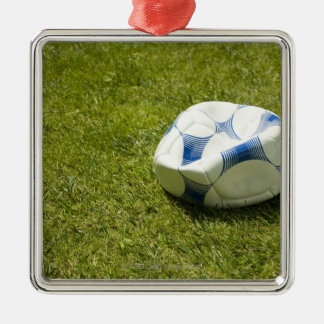 Flat soccer ball in grass, Germany Christmas Ornament