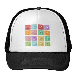 Flat sport icons hat