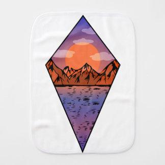 Flat sunrise burp cloth