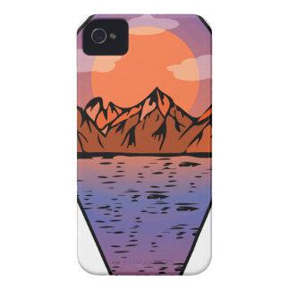 Flat sunrise iPhone 4 cover