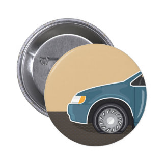 Flat tire Color Vector 6 Cm Round Badge
