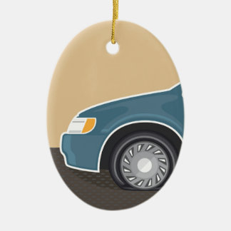 Flat tire Color Vector Christmas Ornament