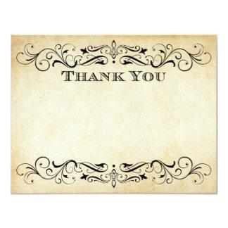Flat Wedding Thank You Cards | Vintage Flourish 11 Cm X 14 Cm Invitation Card