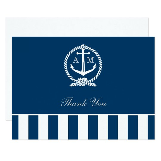 Flat Wedding Thank You Notes | Nautical Stripes