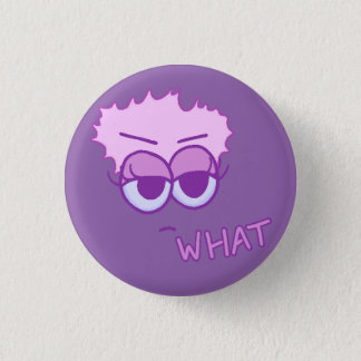 Flat What Button (Violet and Lavender on Iris)