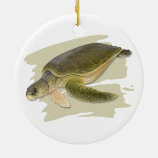Flatback Sea Turtle Ceramic Ornament