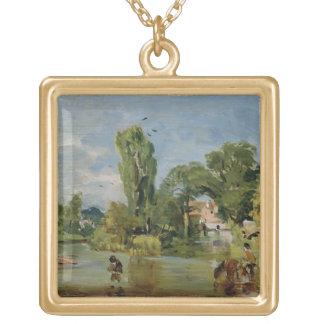 Flatford Mill, c.1810-11 (oil on panel) Custom Jewelry