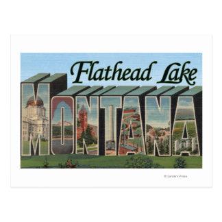 Flathead Lake, Montana - Large Letter Scenes Postcard