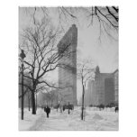 Flatiron Building in Winter, 1905. Vintage Photo Poster