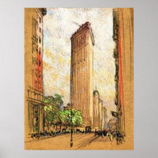 Flatiron Building New York City 1904 Poster