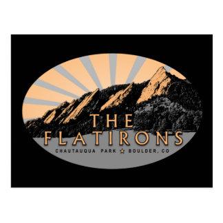 Flatirons, Chautauqua Park, Boulder CO Postcard