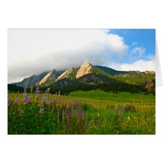 Flatirons from Chautauqua - Boulder, Colorado Card