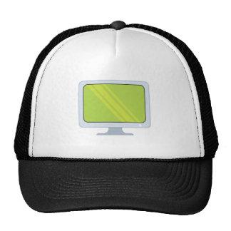flatscreen pc monitor vector design cap