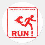 Flatulence Classic Round Sticker