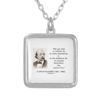 Flaubert Children Ambitious Read To Live Personalized Necklace
