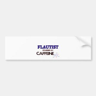 Flautist Powered by caffeine Car Bumper Sticker